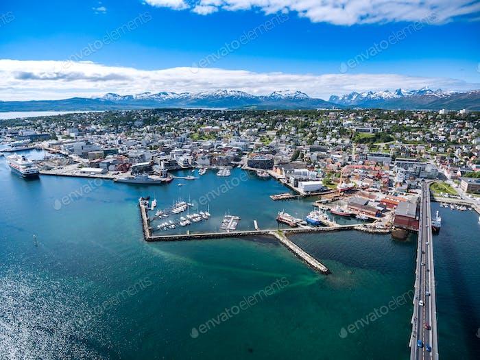 Stadt Tromso, Norwegen
