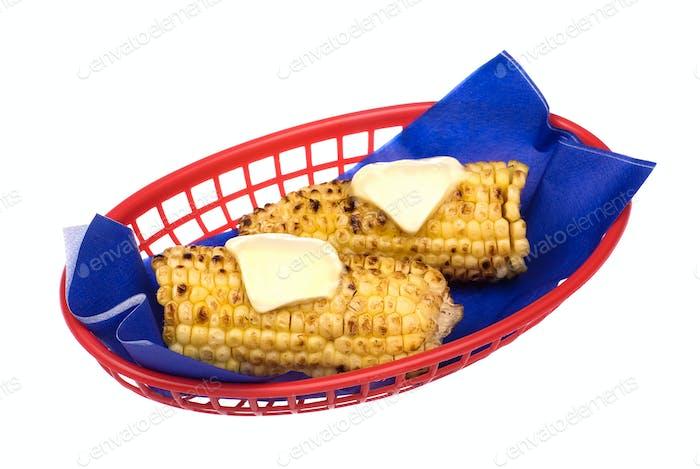 Basket of corn on the cob