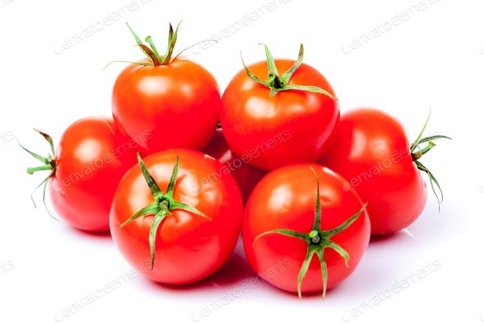 Tomato vegetables isolated on white background