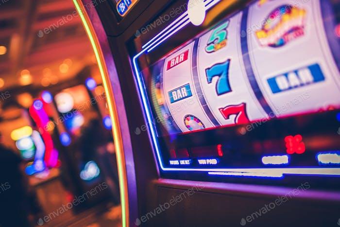 Slot Machine Rolling Drums