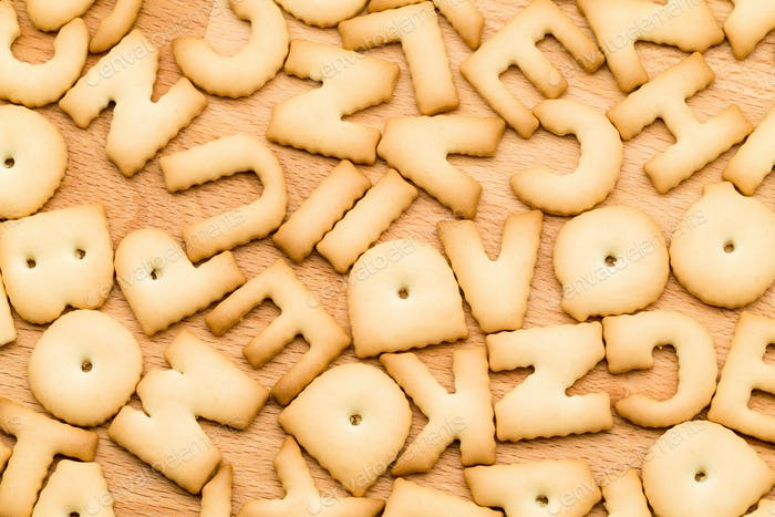 Word Cookie over the wooden table