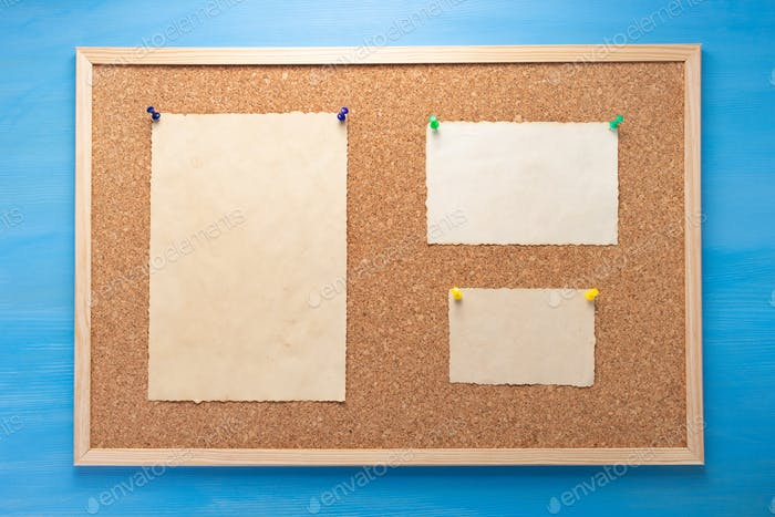 cork board and memory paper