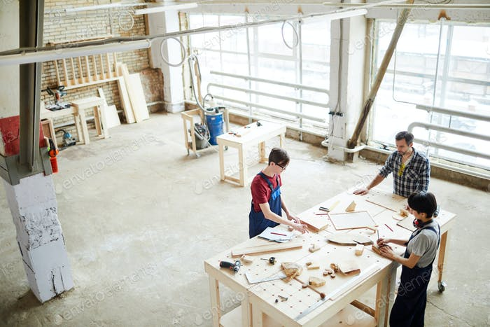 Workspace of carpenters