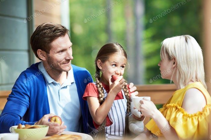 Café da manhã com os pais