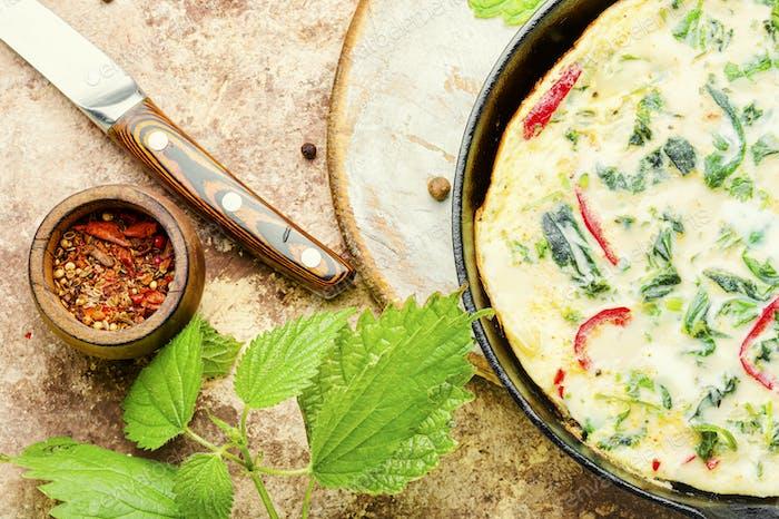 Italienisches Omelett mit Kräutern