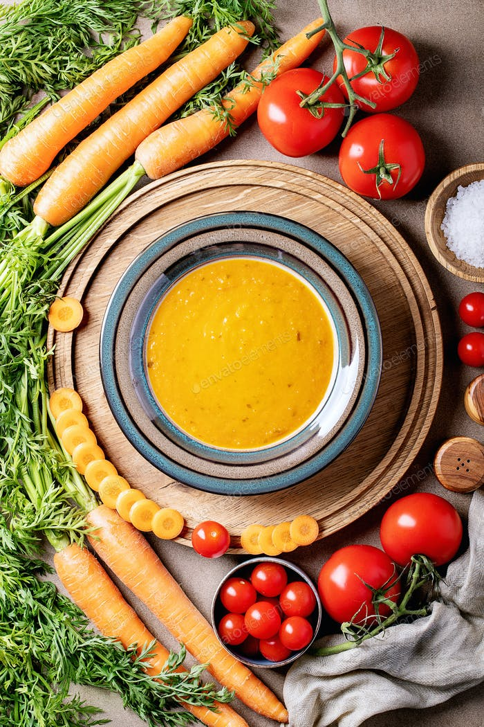 Carrot puree soup