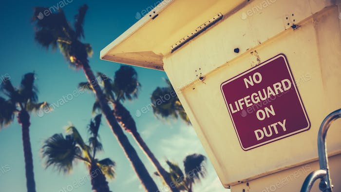 Retro Style Californian Lifeguard Station