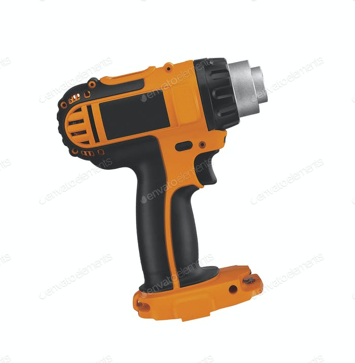 electric battery powered impact wrench isolated