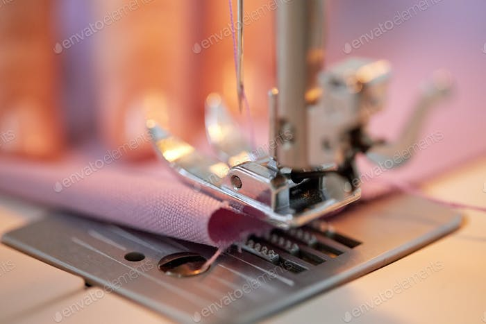 sewing machine presser foot stitching fabric