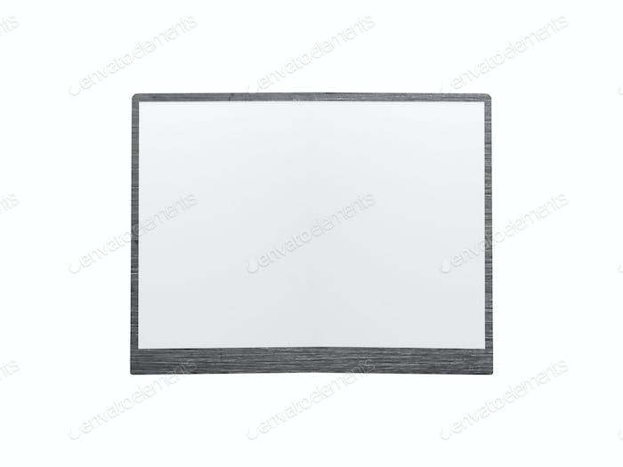 Empty whiteboard isolated on white background