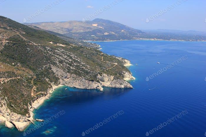 Aerial view on Zakynthos