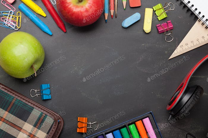 School education supplies concept