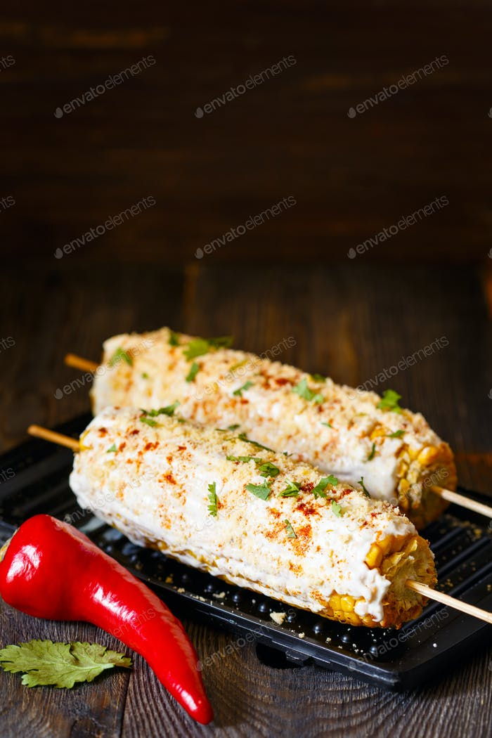 Thumbnail for Mexican grilled corn.