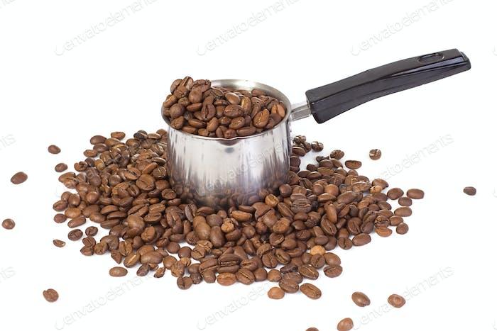 silver metal coffee pot