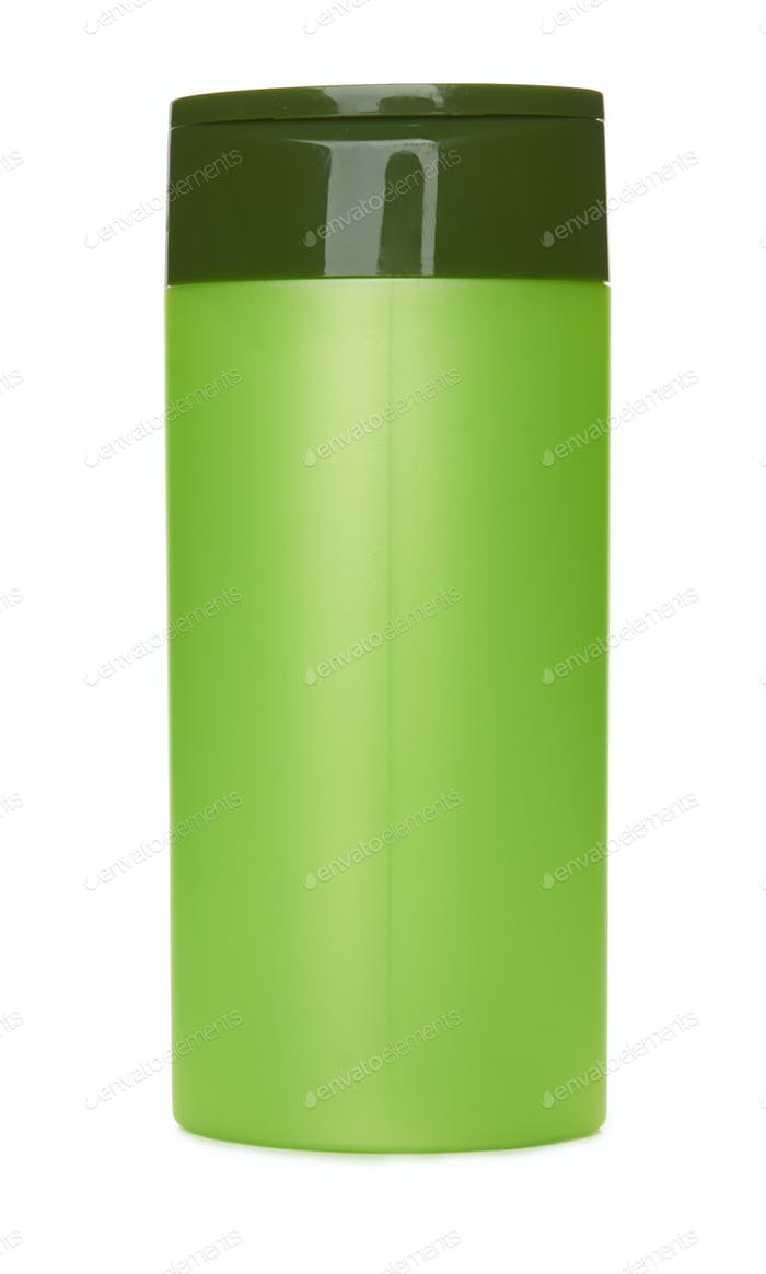 Green container isolated