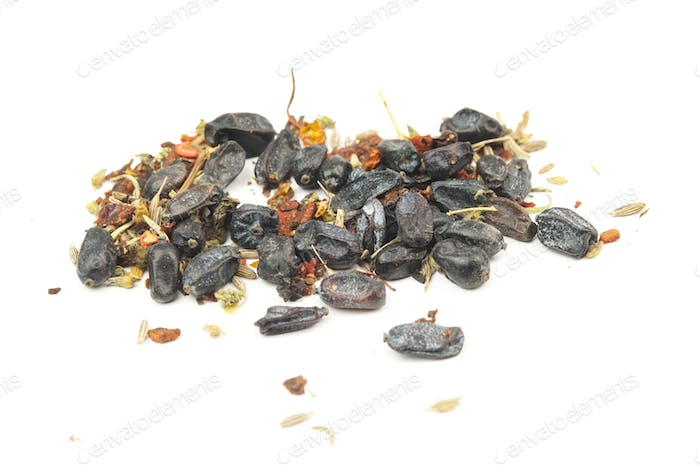 dried barberry isolated