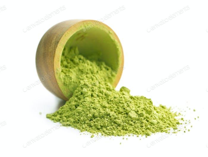 Té verde matcha en polvo.