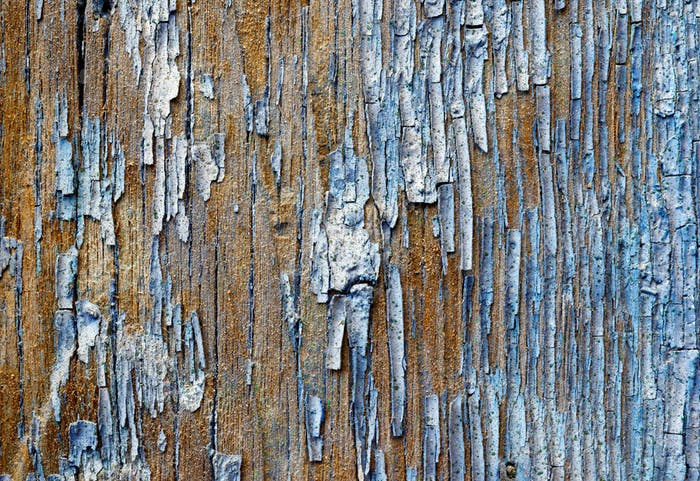 Old painted wooden plank