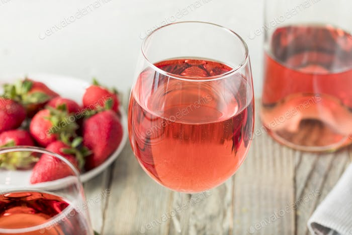 Refreshing Pink Rosé Wine