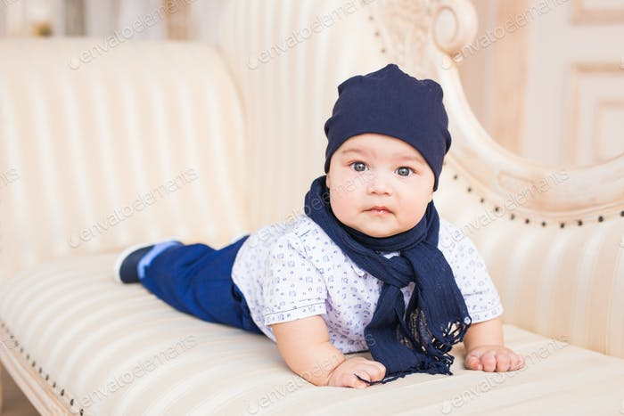 Adorable Caucasian baby boy.