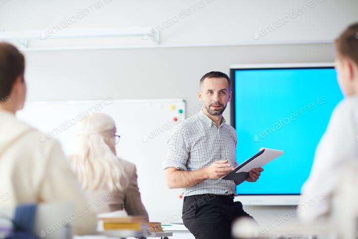 Teacher at work