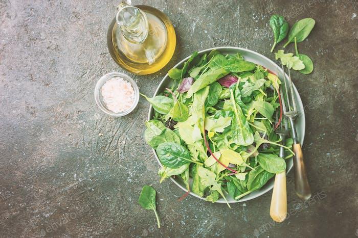Frischer grüner Salat