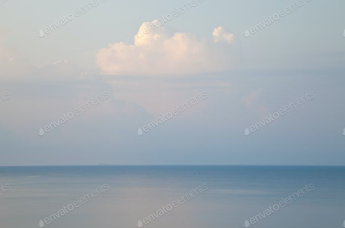 Cloud and seascape, Rhodes, Greece