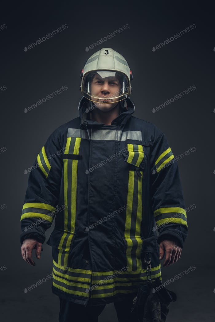 Picture of firefighter in uniform.