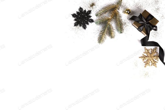 Weihnachten flacher Hintergrund.