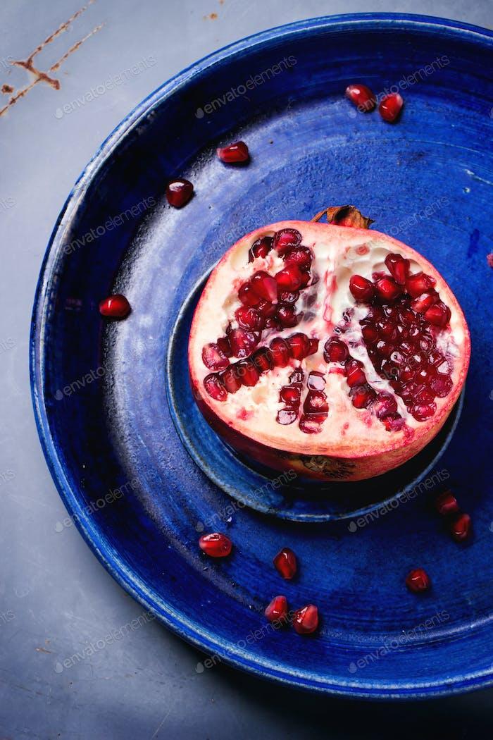 Half of pomegranate