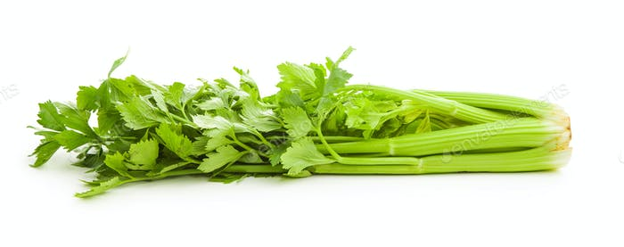 Bunch of fresh celery stalk.