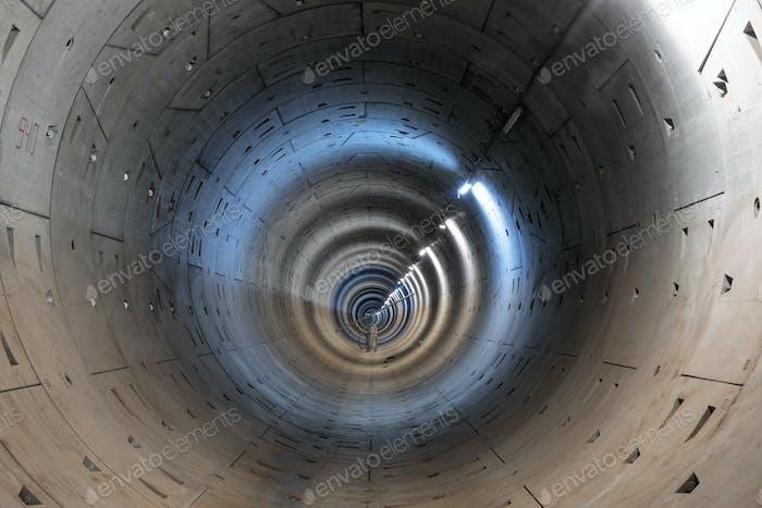 Construcción de un nuevo túnel