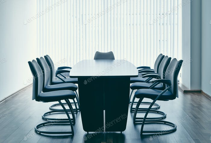Table and chairs in office