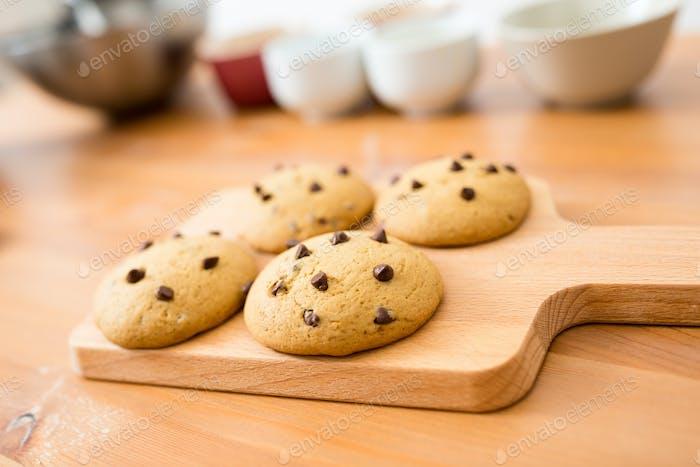 Печенье шоколадной стружки