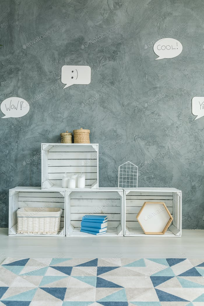 Diy crate furniture and carpet