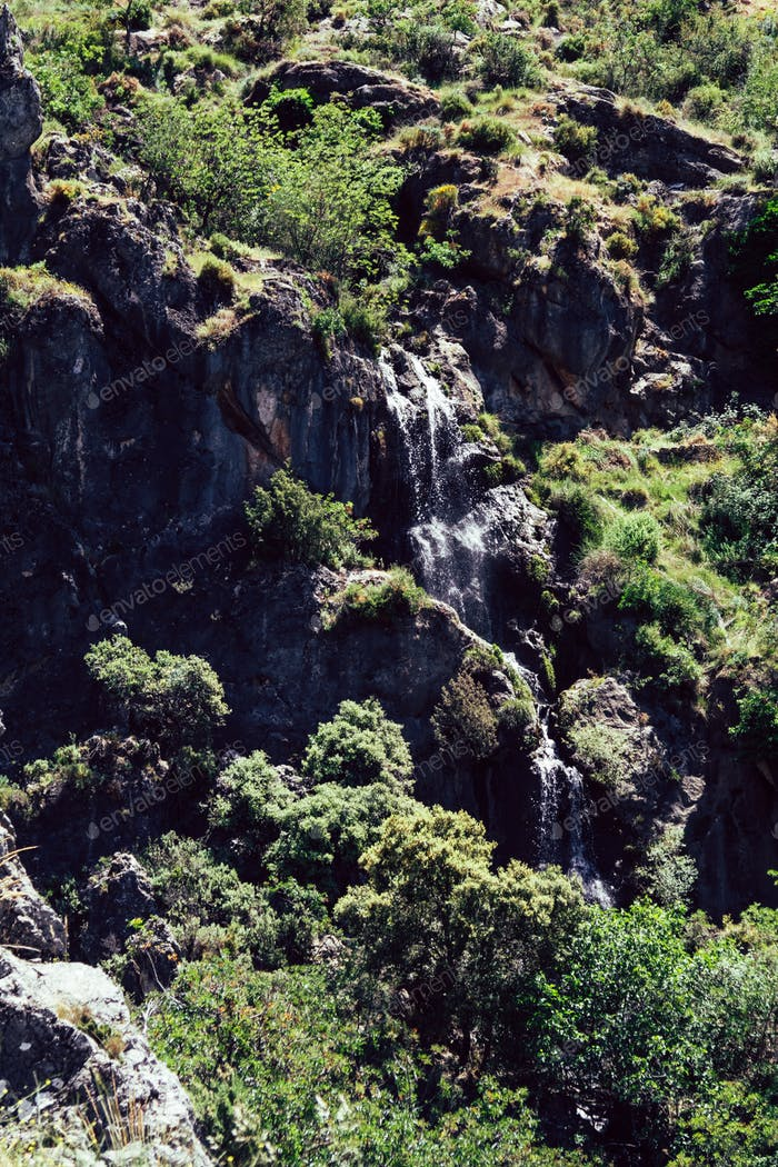 Landscapes on the route of the Cahorros, Monachil, Granada, Spain