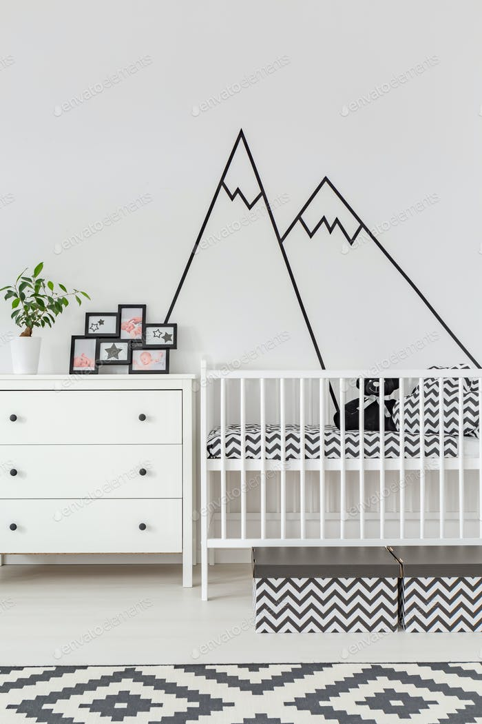 Baby room with wall decoration
