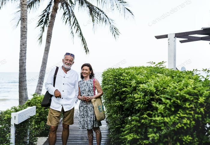 Mature couple vacationing at a resort