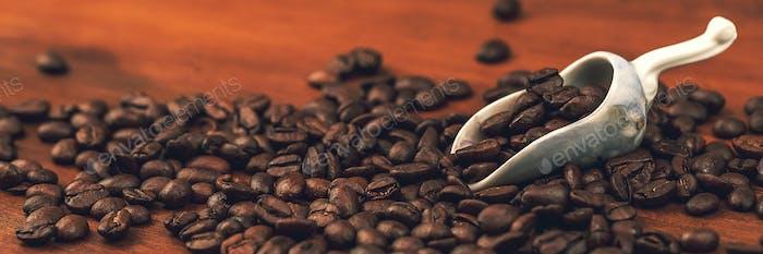 Banner für Kaffeebohnen