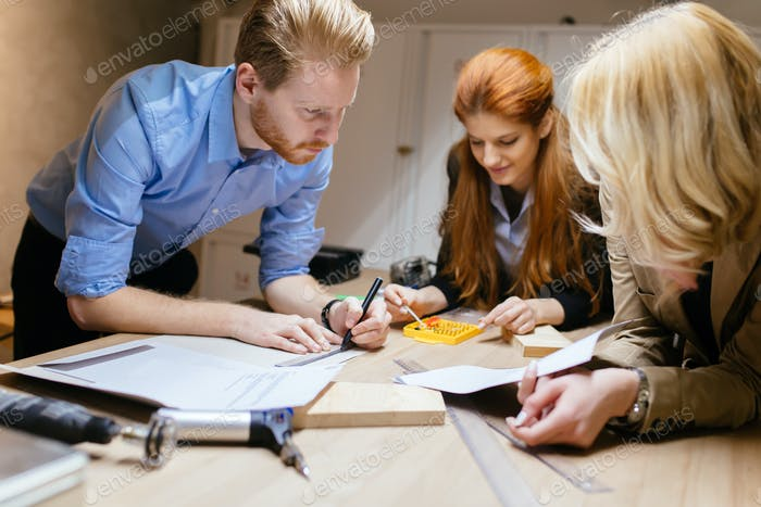 Business people collaborating in office and working on project together