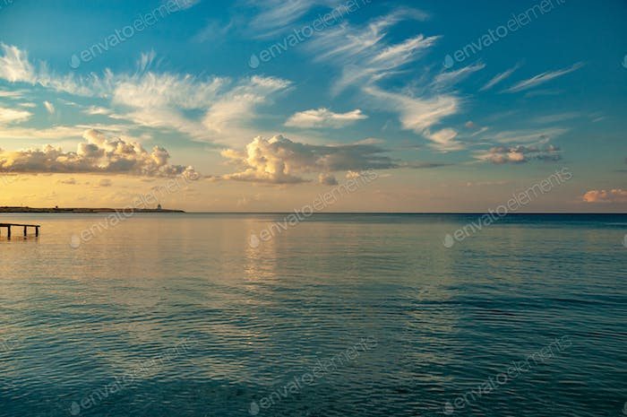 Water surface of the calm black sea