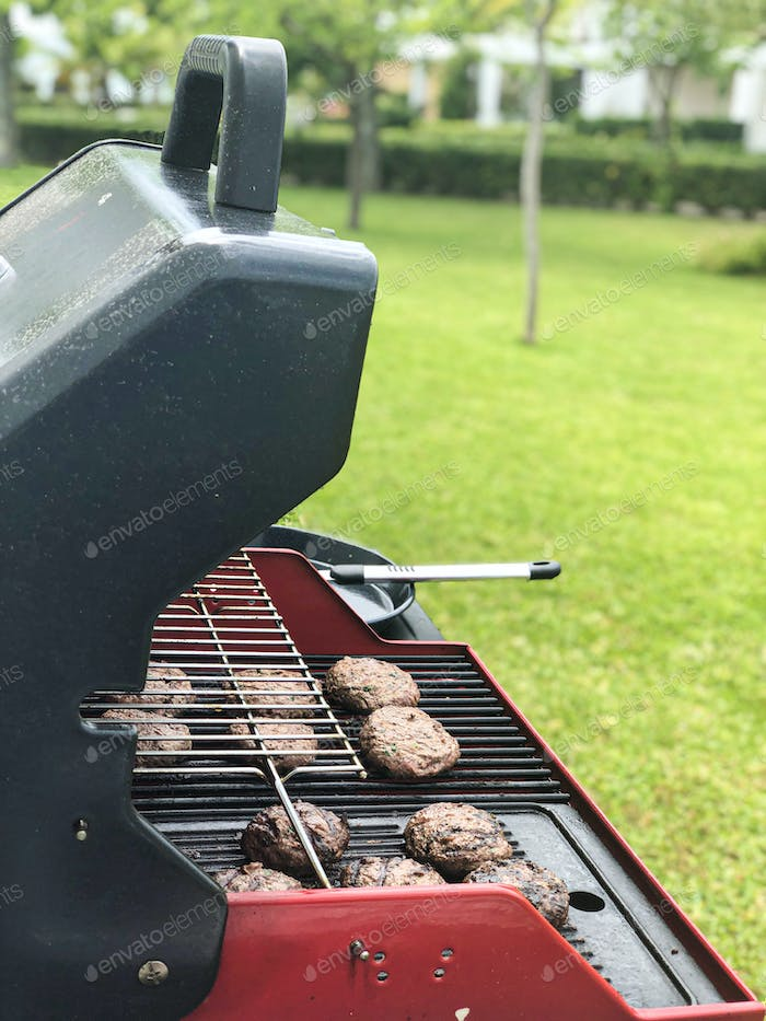 Summer barbeque cooking