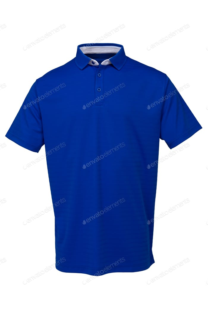 Golf tee shirt blue color for man or woman