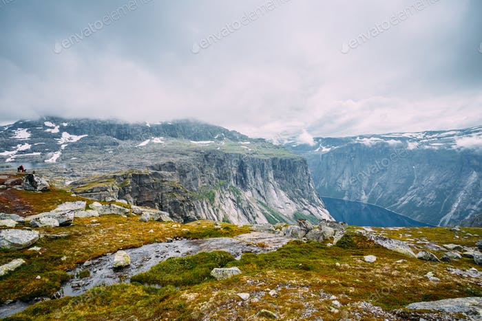 Mountains Landscape with Blue Sky in Norway. Scandinavia.