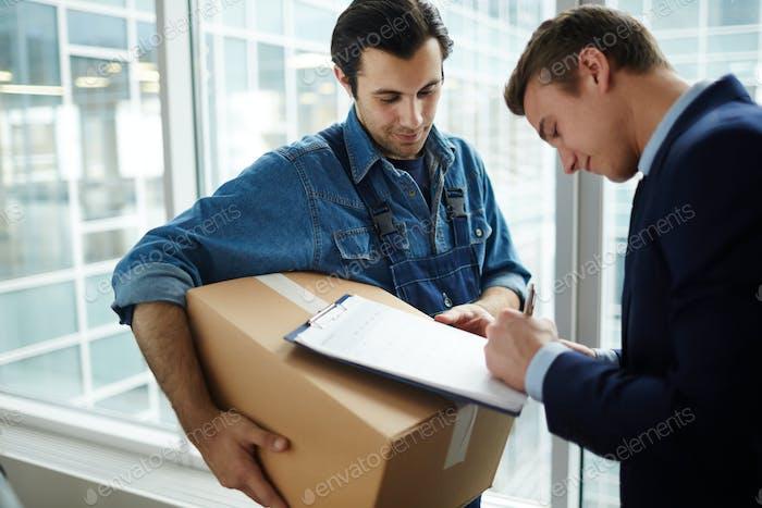 Receiving package