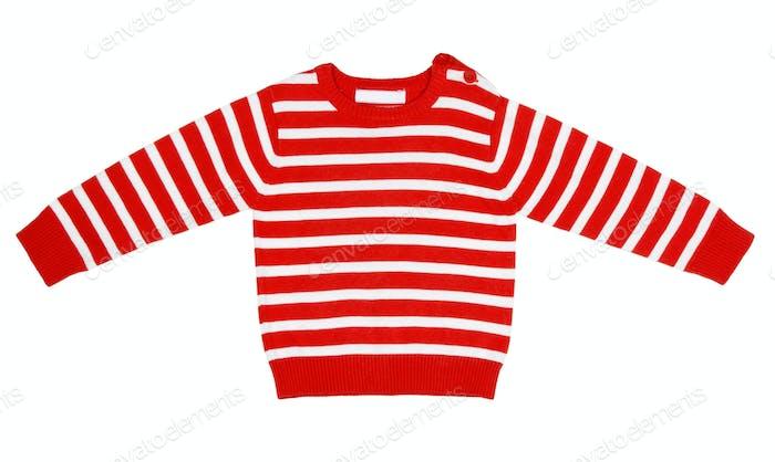 orange striped sweater for children