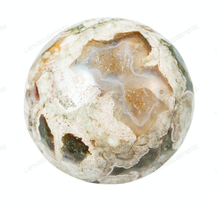 polished Madagascar Rhyolite stone isolated