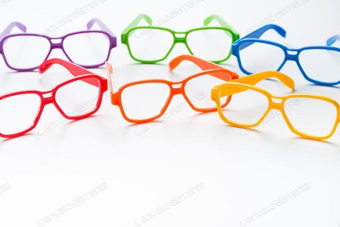 Multicolor eye glasses frames