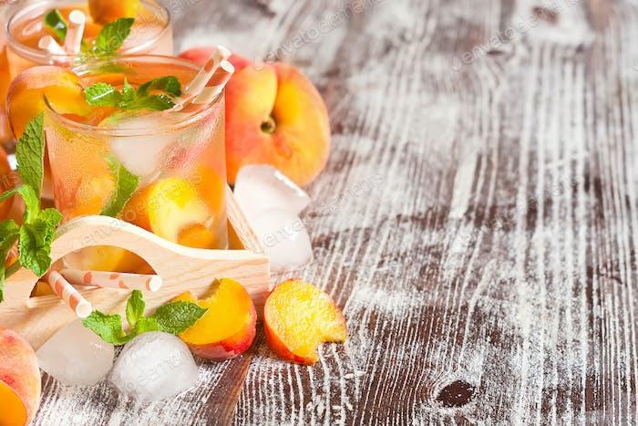 Pfirsich-Lemonade Hintergrund