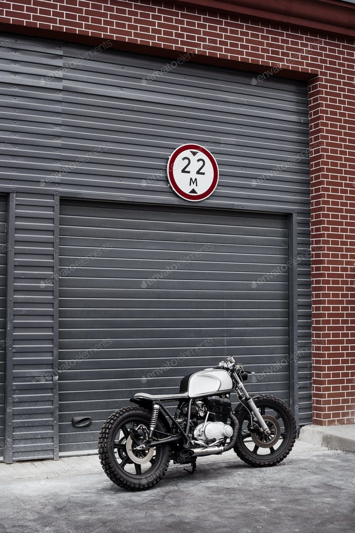 Vintage wiederaufgebaute Motorrad Motorrad Caferacer